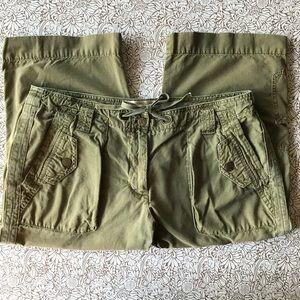 J. CREW Utility Capri Pants Army Green Size 12